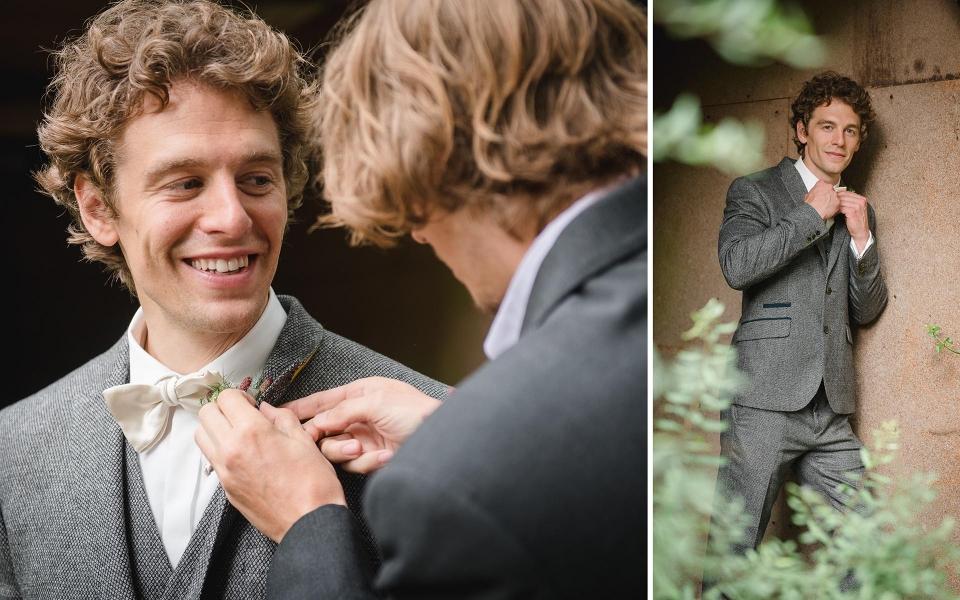 Bräutigam/ Vintage Wedding/ Frau Siemers/ Hochzeitsfotografie