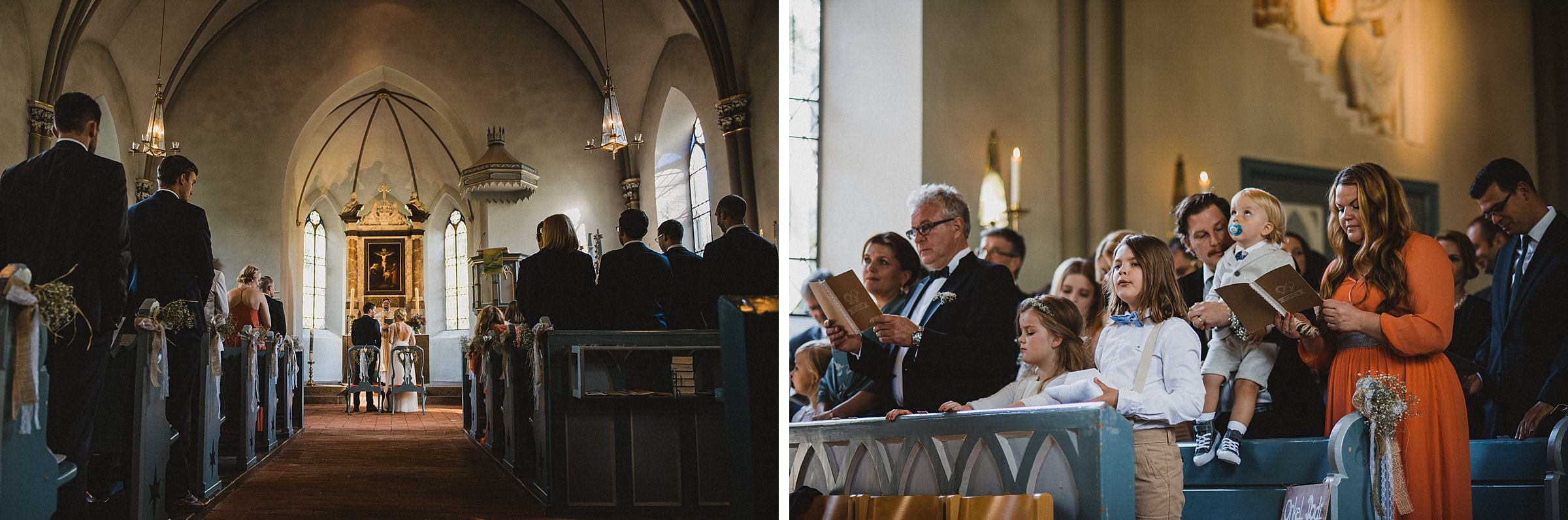 Hochzeitsfotografie Hamburg-Frau-Siemers-Gut Basthorst-kirchliche Trauung-Ganz Ansicht der Altarraums