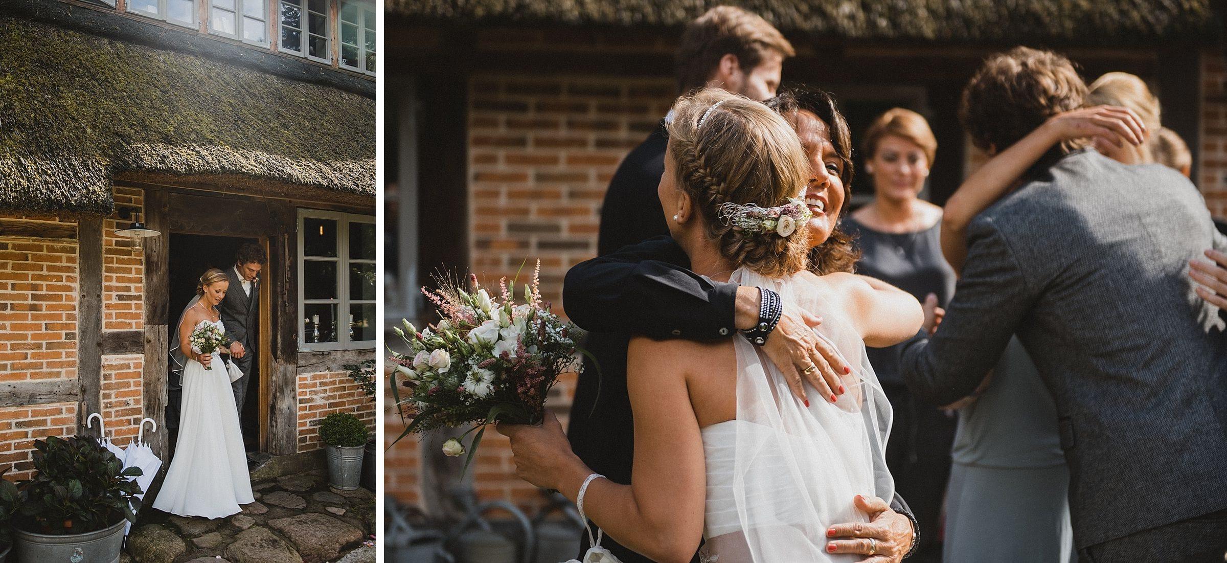 Hochzeitsfotografie-Frau-Siemers-Hof Weihe-Ausmarsch Brautpaar