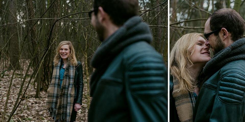 Engagement Shooting/Frau Siemers/Hochzeitsfotografie Hamburg/im Wald