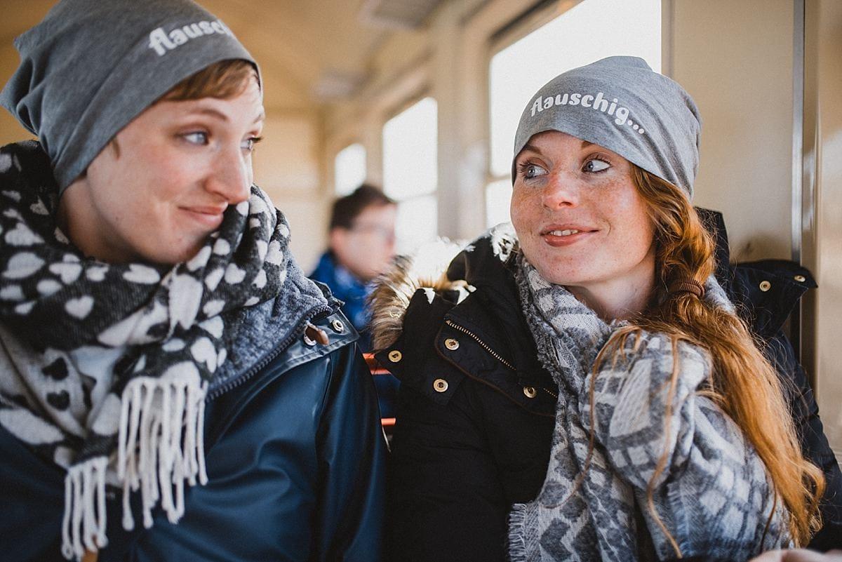 Junggesellinnenabschied_Reise Wangerooge_mit der Bahn auf die Insel Wangerooge