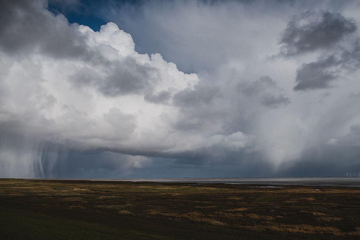Junggesellinnenabschied_Reise Wangerooge_Regenschauer_Wolken