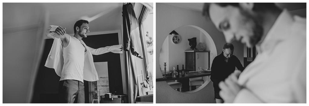 Hochzeitsfotograf Bremen_B&J_Getting Ready Bräutigam_black and white_004