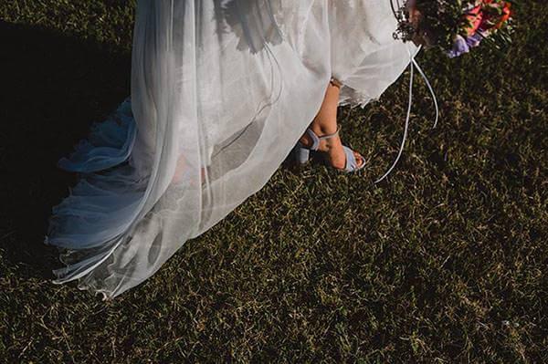 Hochzeitsfotografie-Frau-Siemers-Hochzeitsdetail- Brautschuh der Braut.